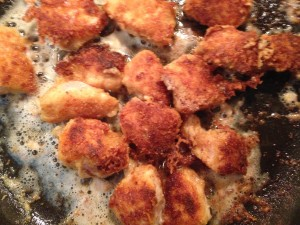 Cooking the nuggets