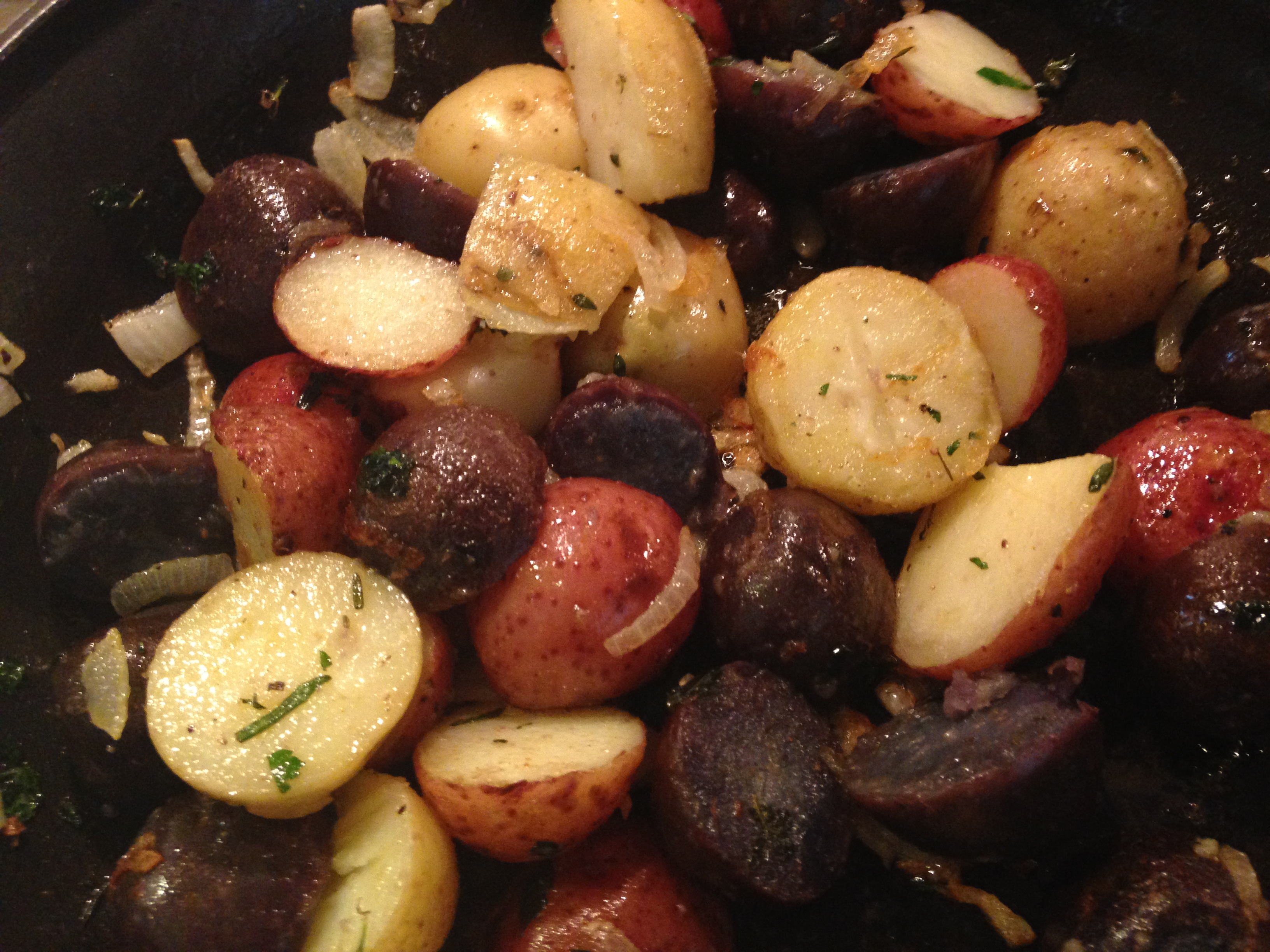 Herb Roasted (Patriotic) Potatoes