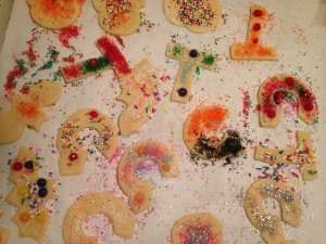 Cutter cookies decorated