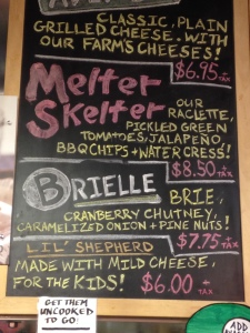 Valley Shepherd Creamery, some of the offerings