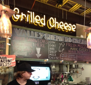 Grilled cheese at the Reading Terminal Market