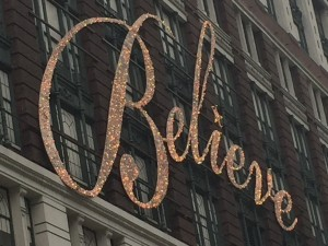 "All stores ""bling out"" for the season including this Macy's sign"